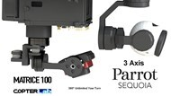 3 Axis Parrot Sequoia+ Micro NDVI Gimbal for DJI Matrice 100 M100