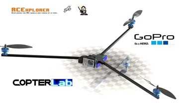 2 Axis GoPro Hero Micro Gimbal for RCExplorer Tricopter