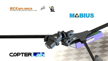 2 Axis Mobius Micro Gimbal for RCExplorer Tricopter