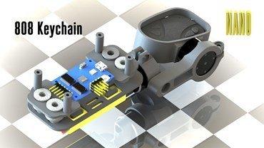 2 Axis 808 Keychain Nano Gimbal