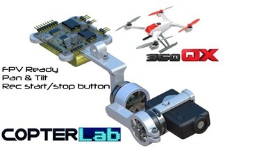 2 Axis Mobius Micro Gimbal for Blade 350QX