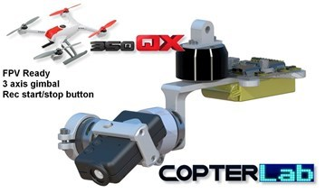 3 Axis Micro Mobius Stabilized Gimbal For Blade 350QX