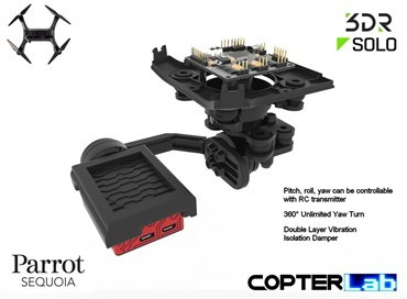 3 Axis Parrot Sequoia+ Stabilized NDVI Gimbal for 3DR Solo