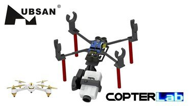 2 Axis Nano Stabilized Gimbal Runcam 1 Camera For Hubsan FPV X4 H501A