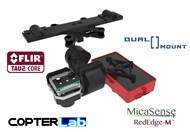 2 Axis Micasense Rededge M + Flir Vue Pro R Dual NDVI Gimbal for DJI Matrice 600 M600 pro