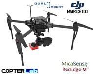 2 Axis Micasense Rededge M + Flir Duo Pro R Dual NDVI Gimbal for DJI Matrice 100 M100