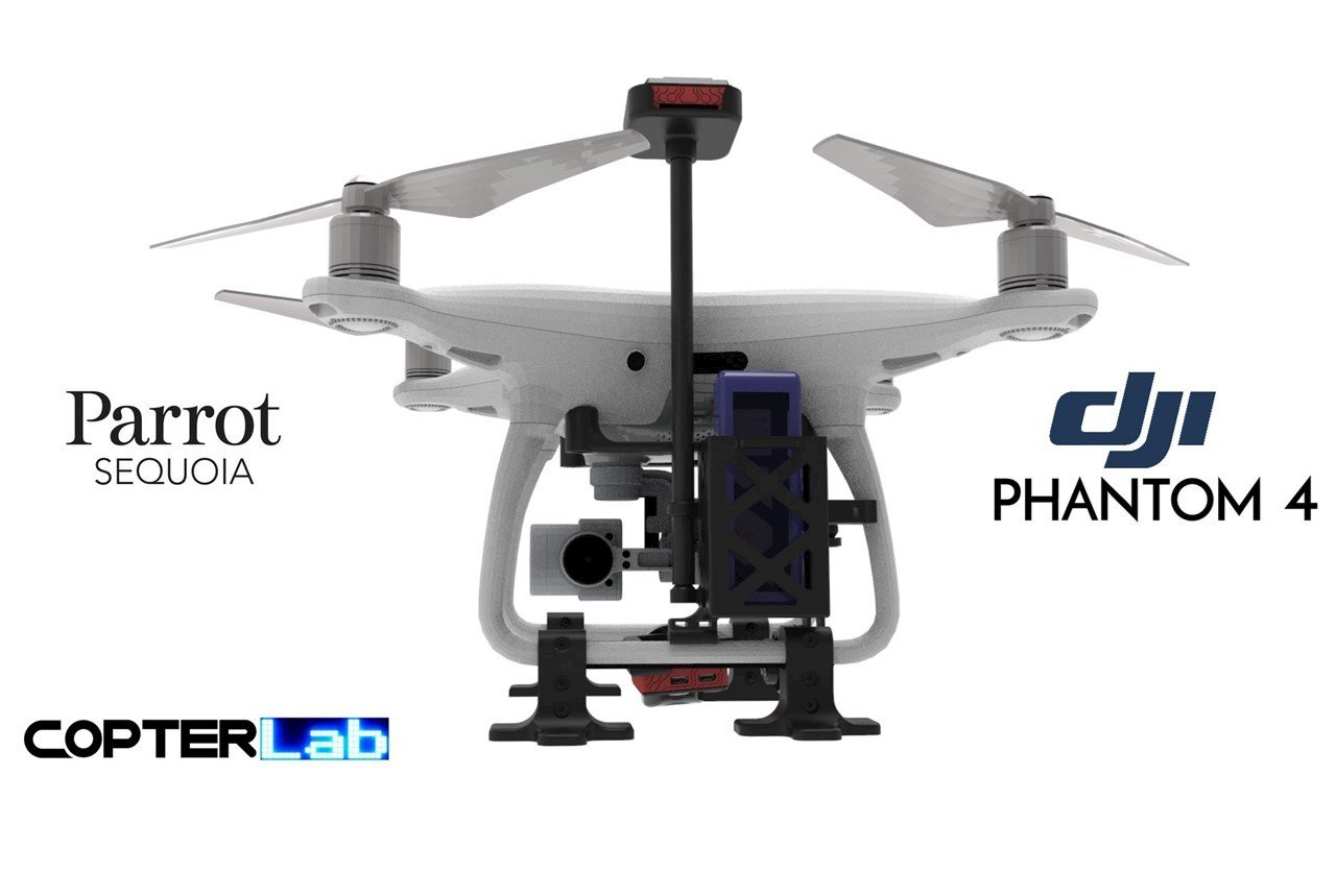 2 Axis Parrot Sequoia+Micro NDVI Gimbal for DJI Phantom 4 Pro Professional