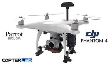 2 Axis Parrot Sequoia+ Multispectral Sensor Camera Stabilized Gimbal for DJI Phantom 4 Standard