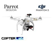 2 Axis Parrot Sequoia+ Multispectral Sensor Camera Stabilized Gimbal for DJI Phantom 3