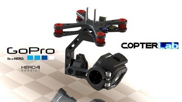2 Axis GoPro Hero 4 Session Micro Gimbal