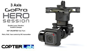 3 Axis GoPro Hero 4 Session Micro Gimbal
