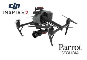 2 Axis Parrot Sequoia+ Micro Gimbal for DJI Inspire 2