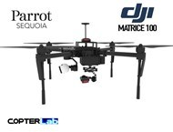 2 Axis Parrot Sequoia+ Micro NDVI Gimbal for DJI Matrice 100 M100