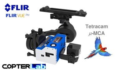 2 Axis Tetracam Micro MCA 6 + Flir Vue Pro NDVI Gimbal