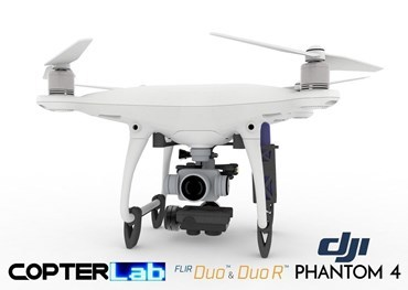 2 Axis Flir Duo R Micro Gimbal for DJI Phantom 4 Pro v2