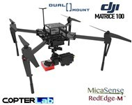 2 Axis Micasense RedEdge-MX + Flir Duo Pro R Dual NDVI Gimbal for DJI Matrice 100 M100
