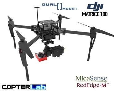 2 Axis Micasense RedEdge-MX + Flir Duo Pro R Dual NDVI Gimbal for DJI Matrice 100 M100
