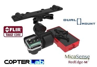 2 Axis Micasense RedEdge-MX + Flir Vue Pro R Dual NDVI Gimbal for DJI Matrice 600 M600 pro