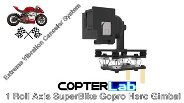 1 Roll Axis GoPro Hero 4 Gimbal for SuperBike Motorcycle Edition