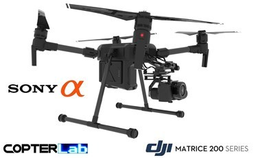 2 Axis Sony Alpha 6400 A6400 Micro Skyport Gimbal for DJI Matrice 200 M200