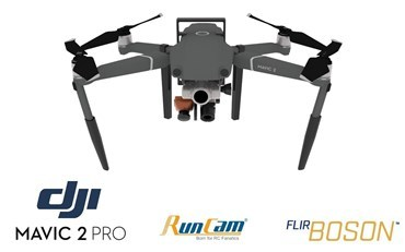 Flir Boson + Runcam Night Eagle 2 Pro Integration Mount Kit for DJI Mavic 2 Zoom
