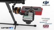 2 Axis Micasense RedEdge RE3 + Flir Tau 2 Dual NDVI Gimbal for DJI Matrice 600 M600 pro