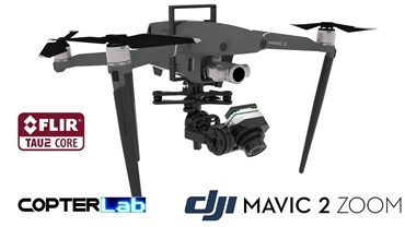 2 Axis Flir Tau 2 Nano Gimbal for DJI Mavic 2 Zoom