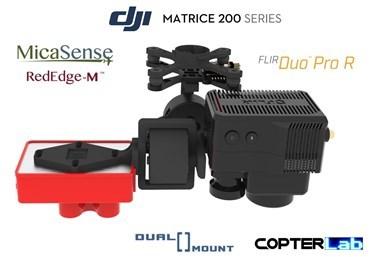 2 Axis Micasense RedEdge M + Flir Duo Pro R Dual NDVI Gimbal for DJI Matrice 200 M200