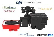2 Axis Micasense RedEdge M + Flir Duo Pro R Dual NDVI Gimbal for DJI Matrice 210 M210