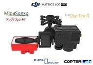 2 Axis Micasense RedEdge M + Flir Duo Pro R Dual NDVI Gimbal for DJI Matrice 600 Pro