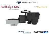 2 Axis Micasense RedEdge MX + Flir Duo Pro R Dual NDVI Gimbal for DJI Matrice 200 M200