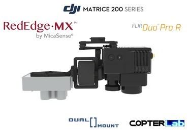 2 Axis Micasense RedEdge MX + Flir Duo Pro R Dual NDVI Gimbal for DJI Matrice 200 M200