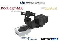 2 Axis Micasense RedEdge MX + Flir Duo Pro R Dual NDVI Gimbal for DJI Matrice 210 M210
