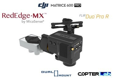 2 Axis Micasense RedEdge MX + Flir Duo Pro R Dual NDVI Gimbal for DJI Matrice 600 Pro