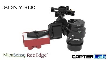2 Axis Micasense RedEdge RE3 + Sony R10C Dual NDVI Gimbal for DJI Matrice 200 M200