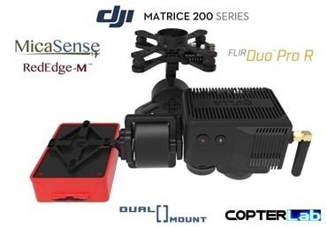 2 Axis Micasense RedEdge RE3 + Flir Duo Pro R Dual NDVI Gimbal for DJI Matrice 200 M200