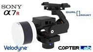 2 Axis Sony A7S + Velodyne ULTRA PUCK Lidar VLP-32C Dual Gimbal