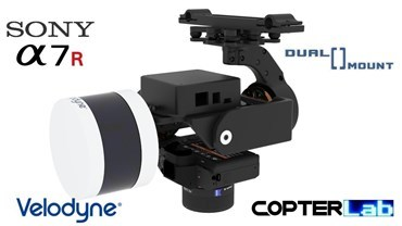 2 Axis Sony A7S + Velodyne Puck Lidar LITE Dual Gimbal