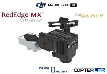 2 Axis Micasense RedEdge MX + Flir Duo Pro R Dual NDVI Gimbal for Tarot X4